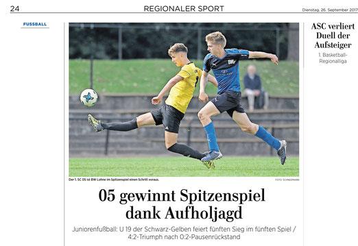 1.SC Göttingen 05 vs. BW Lohne, Niedersachsenliga, Team von Trainer Nils Leunig gewinnt
