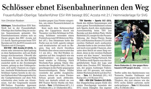 ESV Rot-Weiß Göttingen, Eisenbahner, Eisenbahnerinnen gewinnen