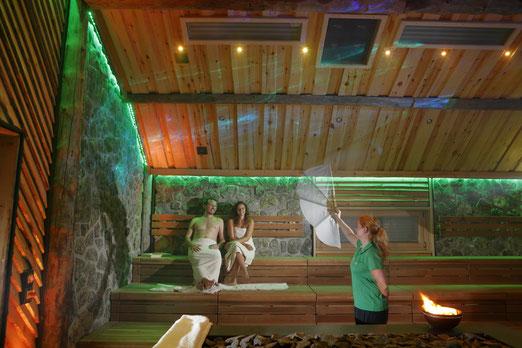 Innenansicht der Vaikutus Event-Sauna © Stadtwerke Herford GmbH