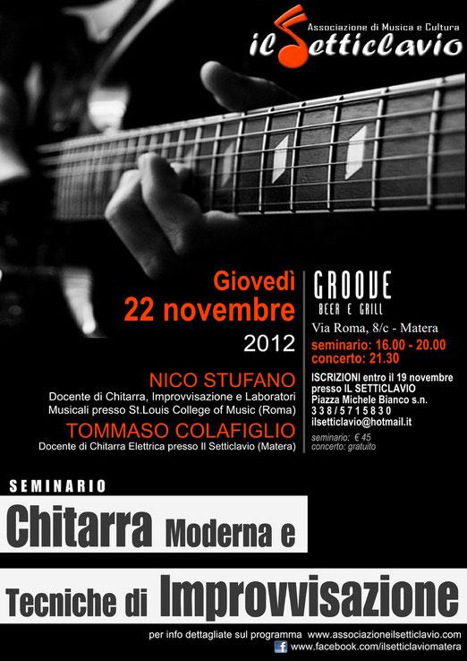 Nico Stufano Tommaso Colafiglio seminario setticlavio chitarra improvvisazione