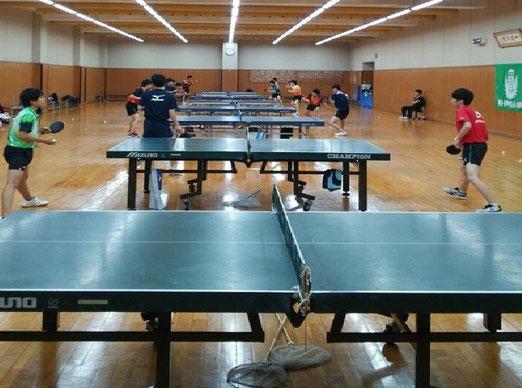 卓球場A:10台 卓球場B:10台  計20台 完備