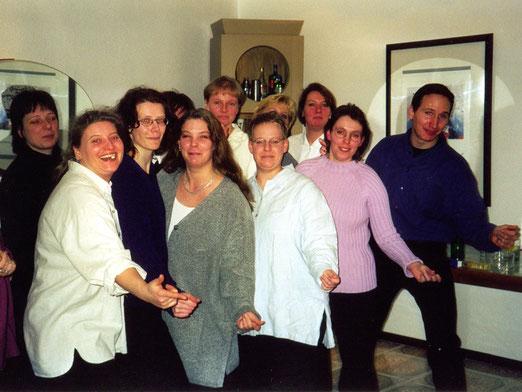 Gruppenbild mit Chorleiter