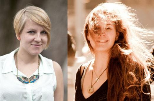 Katja Hofmann (l) und Nadine Maria Schmid (Fotos: Marc Langela, Corwin von Kuhwede)