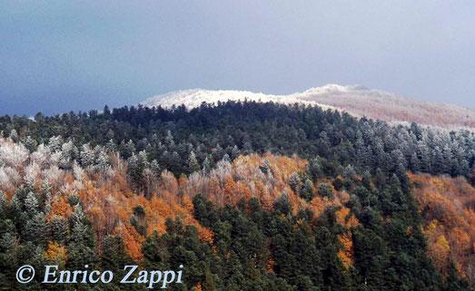Monte Penna con galaverna vista dalla strada dei fangacci