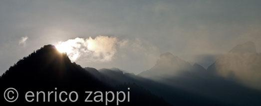 Alba sulla Valle Ciamin ed il Catinaccio
