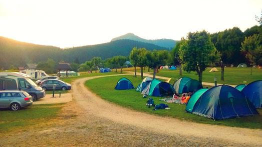 Pinéa-1771m- et coucher de soleil depuis le camping du Sappey en Chartreuse
