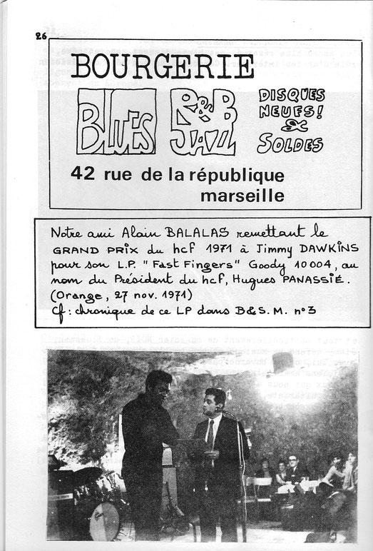 Remise du grand Prix du Hot Club de France. Orange 1971.