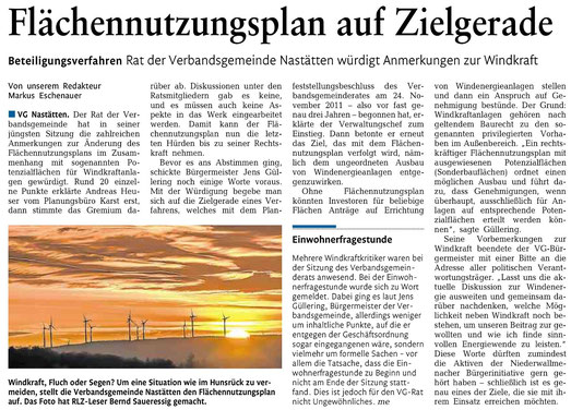 Rhein-Lahn-Zeitung v. 05.12.2014
