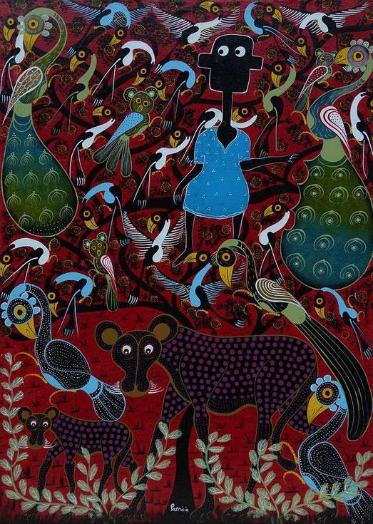 Gemalt von Patricia Edward Chegefu, Dar es Salaam, Tanzania  (Ölfarbe auf Leinwand)