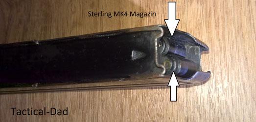 Die Sterling MP ist zuverlässiger als die UZI und MP5. Das wurde z.B. durch die Rollen am Magazinzubringer erreicht, die horizontale Positionierung des Magazins und durch Rillen am Verschluss, die ein Gleiten trotz Verschmutzung ermöglichen.