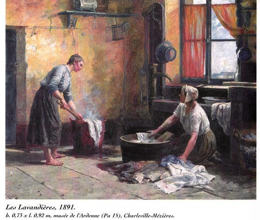 Tableau d'Eugène Damas (1844-1899)