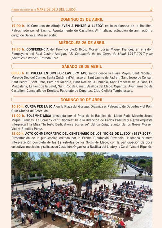 Festes de la Mare de Deu del Lledo en Castellon