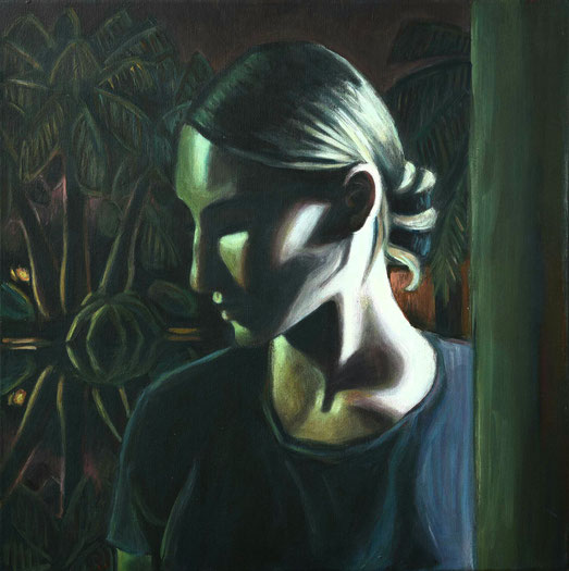 philipp christoph haas | [teich] aus der serie 'un jardin pendant la mousson' | akryl auf leinwand, 2020