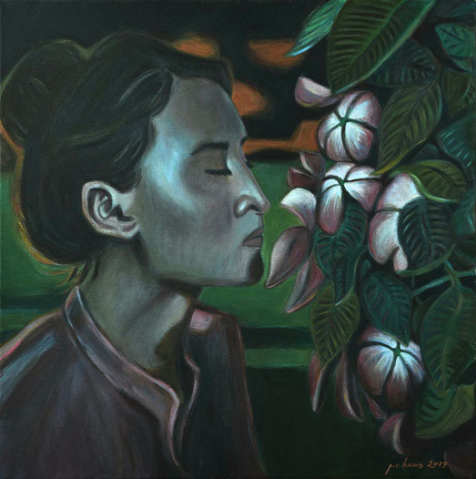 philipp christoph haas | [blueten] aus der serie 'un jardin pendant la mousson' | akryl auf leinwand, 2019