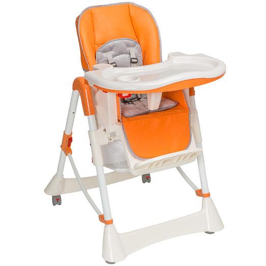 Chaise Haute Bébé / Enfant en Orange