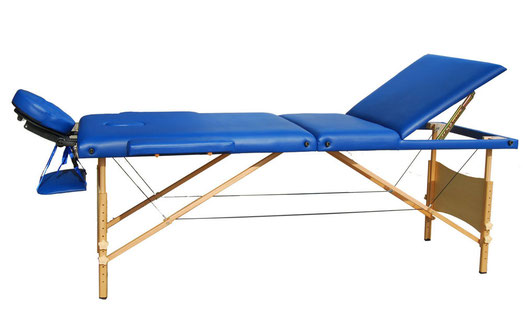 Table de Massage en 3 Zones Bleu