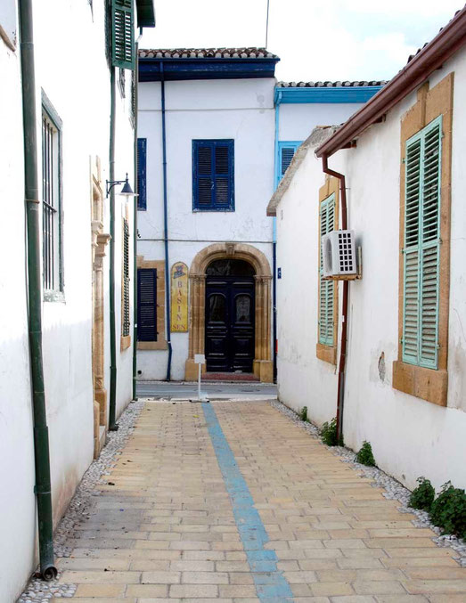 Town houses in Arabahmet, the old Armenian quarter of North Nicosia restored as part of the EU Masterplan for North and South Cyprus