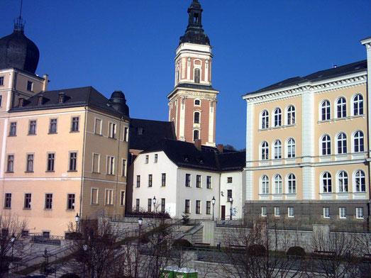 Unteres Schloß,Stadtkirche und Lessingschule