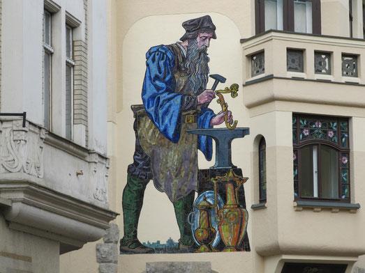 Wandgemälde in der Altstadt