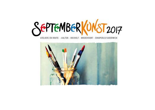 Teilnahme an der SeptemberKunst. Neben jeweils einem Bild in den zentralen Ausstellungen zeige ich eine Auwahl meiner Werke in der Wilhelminastraat 35, Aalten, Niederlande. Öffnungzeiten 16.17. und 23.24. September 2017.  11.00 - 17.00 Uhr