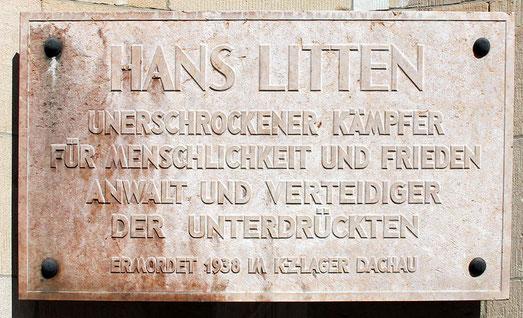 Gedenktafel für Hans Litten am Berliner Landgericht