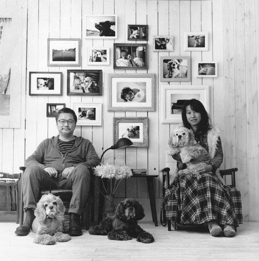F様ご夫婦とわんちゃん(2013年11月 白黒フィルム撮影)