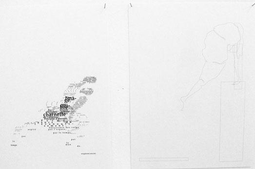 """Pages extraites d'un livre d'artiste, """"L'Œ"""", 18x24"""