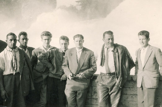 Ausflug an den Rheinfall, ca. 1958.