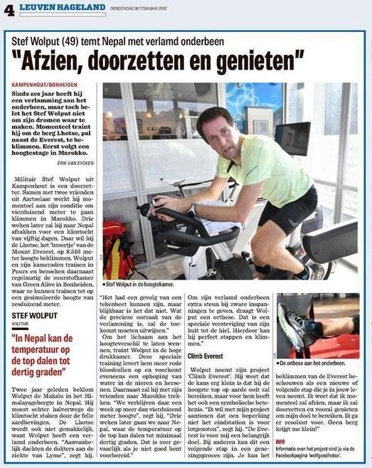 Het Nieuwsblad Hageland 16 Februari 2017
