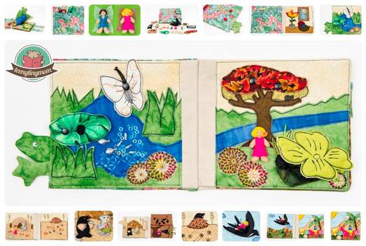 Quiet book Thumbelina fairytale tactile book