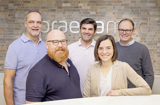 Das Praenamed Ärtze-Team: Univ.-Prof. Dr. Horst Steiner, Dr. Tobias Jäger, Dr. Robert Gruber, Dr. Judith Huber-Katamay, Dr. Wernfried Gappmayer