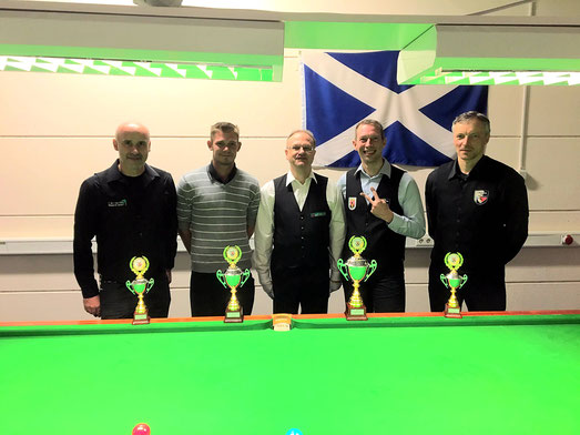 v.L.n.R  Berthold Bersch, Lars Rother, LSO Snooker-Klaus Kriegshäuser, Heiko Thiel, Martin Pareigis