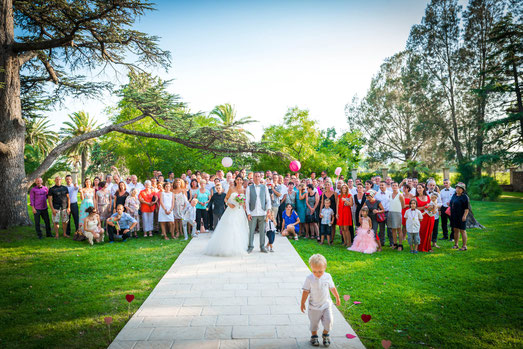 Photo mariage groupes, invités, famille