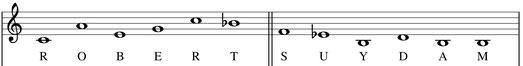 partition thème musical de Robert Suydam