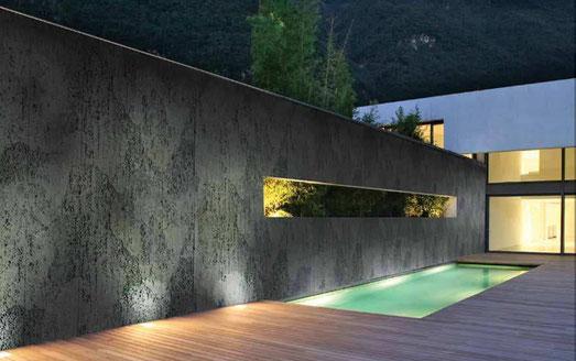 TOTALDesign Paneel in Betonoptik: M-177 Anthracite Rustic Concrete Panel