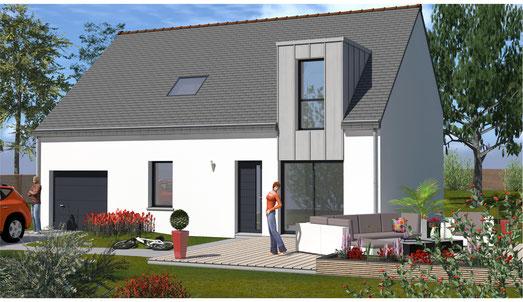 plan maison 4 chambres etage