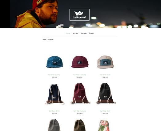 Exemplo de loja virtual criada com Jimdo
