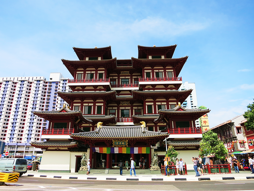 Buddha-Tooth Relic Tempel in Chinatown
