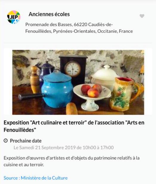 Affiche Andrée Tricoire pour les JEP 2019