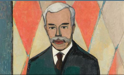Détail du Portrait de Sergueï Chtchoukine par C.C. Krohn (1916)