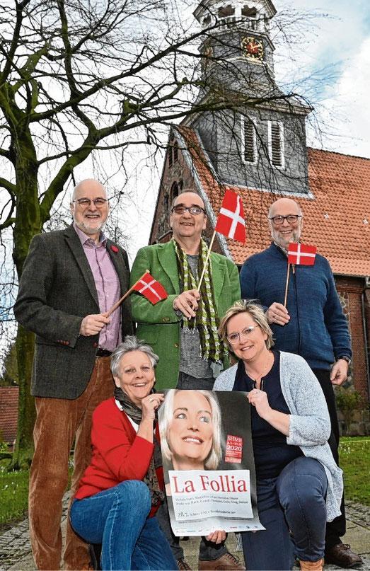 Freuen sich auf das Konzert in der Bonifatiuskirche: (v.l.) Johann Hansen, Viktoria Dutzmann, Frank Siebert, Stefanie Grothe und Christian Dutzmann.