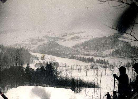 Frühes Foto von der Schanze auf der Rehwiese
