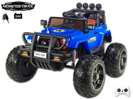 Wrangler Monster Truck/Jeep/24V/400W/Kinderauto/ Kinder Elektroauto/1 Sitzer/blau/