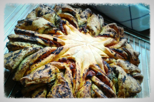 Pestobrotblume (fertig gebacken)