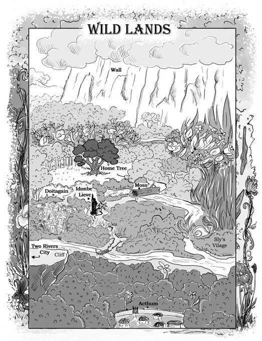 childrens books map traditional illustration map  childrens books novel black and white illustration