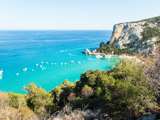 """Blick auf die traumhaft schöne Bucht """"Cala di Luna"""""""