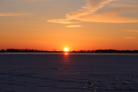Traumhafter Sonnenuntergang am Vätternsee