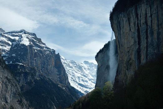 Staubbach Falls in Lauterbrunnen