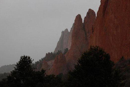 The Garden of the Gods in Colorado