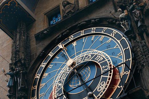 Astronomische Uhr Prag, volle Stunde, Osteuropa Trip